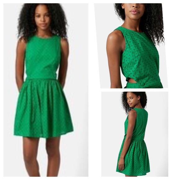 Topshop Dresses & Skirts - TopShop Pinafore Eyelet Dress